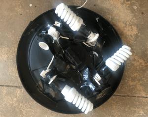One light bulb missing